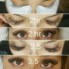 When choosing your eyelash extensions, you will have the choice of getting lashes made from real human hair or the ones that consist of synthetic solutions. Applying Eye Makeup, Applying False Eyelashes, Eyelash Extensions Styles, Fake Lashes, Permanent Eyelashes, Silk Lashes, Eyelash Sets, Evening Makeup, Longer Eyelashes