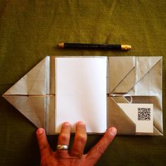 """Adapted from a folding wallet form created by Hedi Kyle. Found in """"Playing With Paper"""" by Helen Heibert 