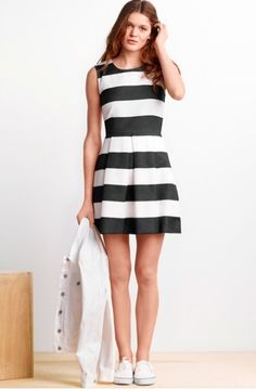 Keep it cool this summer in chic black and white layers. Repin to share this look!