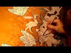Seidenmalerei von Svetlana Salitan. Silk art. Батик. Pintura en seda, ציור משי , 絹の絵画 - YouTube