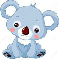 Cartoon koala bear vector image on VectorStock Cartoon Cartoon, Cartoon Baby Animals, Cartoon Drawings Of Animals, Cute Animals, Baby Koala, Cute Koala Bear, Cute Bears, Koala Illustration, Bear Vector