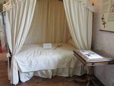 Interior of Jane Austen's House, her bedroom, which she shared with Cassandra