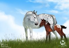 Commission for Type: realistic with simple bg Lovely equine couple Aella and Sion spending some time together I really need to draw more horsey love pictures! It was such an enjoyable commission I ...
