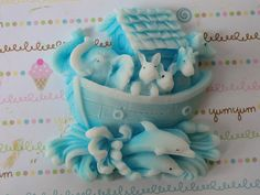 30 Noah's Ark baby shower soap favor  baby boy by BUBBLECITYSOAP, $45.00