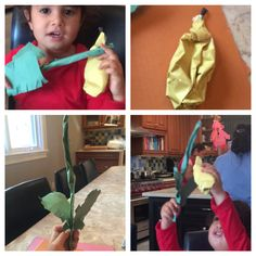 We made a lulav and etrog in honor of sukkot and we can't wait to shake it on the holiday !