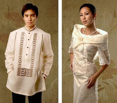 Customized Barong Tagalogs, Filipiniana, Gowns - Barongs R us Filipiniana Wedding, Filipiniana Dress, Wedding Dress, Dress Suits, Dress Up, Barong Tagalog, Philippines Fashion, Line Shopping, Formal Gowns
