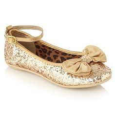 Girl's gold glitter bow pumps - Casual shoes - Shoes & boots ...
