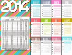 52 Week Money Challenge 2014 - Need to try this…52 week money challenge. After the 52 weeks you will have $1,378.00!~ Im in, just printed, and caught my jar up- anyone else, I feel an extra mini vacation