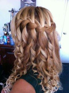 Trenza cabello suelto