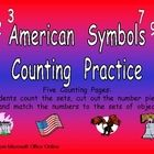 This file has five printable pages to allow your students to count sets from 0 to 10 and match them with the correct numeral. The sets feature American symbols, such as the American flag, the bald eagle, and the Statue of Liberty. Students count the set and then they cut out the numbers on the right side of paper and glue the correct number next to each set. These pages could be used for morning work, homework, or regular classwork.  $