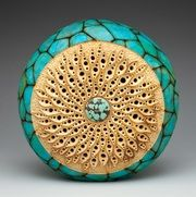 """Spiral Stars"" by Mark Doolittle; paper applique by Kathy Doolittle.  George Post, photography."