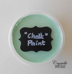 Recipe for make-your-own chalk paint using the simplest ingredient ever: something that most households have on hand anyway.... : cornstarch!!