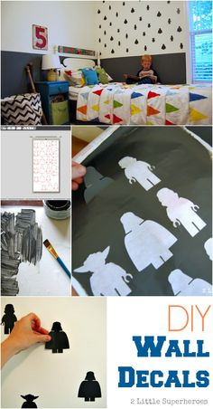 DIY Wall Decals. Can customize using any color paint, and for under $2. #walldecals