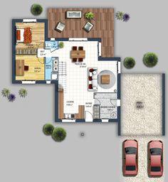 Plan maison trecobat maison de plain pied pinterest for Maison traditionnelle trecobat
