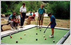 Mini-golf pool table..so fun