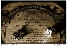 Beautiful photo of a MM certificate