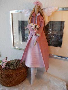 Tilda Misty Rose - bambola angelo tilda bambola - arredamento casa - regalo per regalo perfetto ragazza - bambola fatta a mano - - decorazione - Tilda