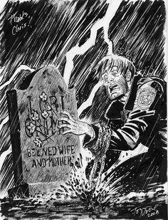 The Walking Dead - Tony Moore The Walking Dead Poster, Walking Dead Comics, The Walking Dead 2, Rick Grimes, Comic Books Art, Comic Art, Book Art, Dystopian Art, Twd Comics