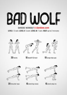 This bad wolf workout will have you howling for more. Are you ready for this workout? Cardio, Kickboxing Workout, Calisthenics Workout, Workout Fitness, Women Boxing Workout, Darbee Workout, Wrestling Workout, Fitness Motivation, Woman Workout