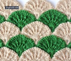Ooo - I LOVE this! Crochet Textured Shell Pattern: Diagram step by step instructions Via My Picot - http://ift.tt/1WoKLA2