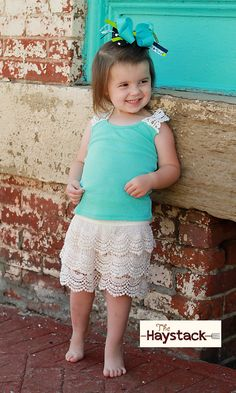 Girls Crochet Tank (2 colors)