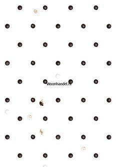 wp-023 Zwart Witjes Behang KEK Amsterdam - Woonhandel
