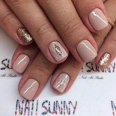 nails - Beautiful And Stylish Nail Art Ideas Classy Nails, Stylish Nails, Fancy Nails, Pretty Nails, New Nail Designs, Short Nail Designs, Nagel Bling, Get Nails, Nude Nails