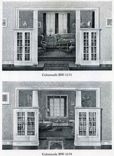 Bilt-Well Catalog 40: Colonnades BW-1171 and 1174  BOOKCASES, COLONNADES, AND OTHER CONVENIENCES