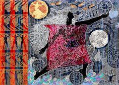 Seema Kohli- Chaumanda, mix medium on canvas