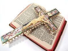 Jerusalem Crucifix Cross Mother of Pearl & by UrbanRenewalDesigns