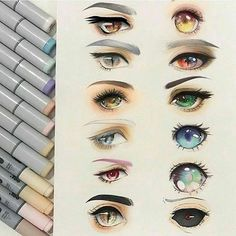 *eye shapes and colors*