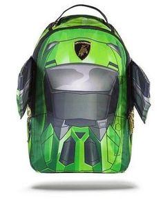 SPRAYGROUND GREEN RACER CAR LAMBO GIRL FOAM WINGS URBAN LAPTOP BAG BACKPACK