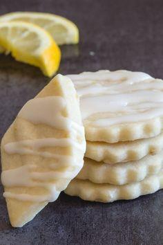 Lemon Shortbread Cookies + 5 More Must Bake Shortbread Recipes - An Italian in my Kitchen Lemon Desserts, Lemon Recipes, Cookie Desserts, Sweet Recipes, Cookie Recipes, Delicious Desserts, Yummy Treats, Sweet Treats, Dessert Recipes
