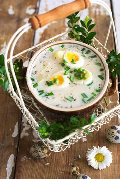 Zupa chrzanowa Eggs, Breakfast, Food, Morning Coffee, Egg, Meals, Egg As Food, Yemek, Morning Breakfast