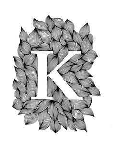 Palatino - Ink on paper, 21 x 30 cm - Ellen van de Sande Alphabet Letters Design, Alphabet Art, Letter Art, Name Drawings, Cool Art Drawings, Art Drawings Sketches, Mandala Art Lesson, Doodle Art Designs, Ink Illustrations