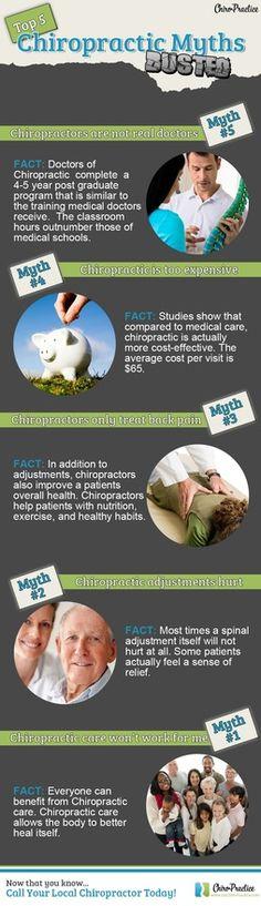 Top 5 Chiropractic Myths #getchecked #getadjusted #chiropractic herrmfamchiro.com