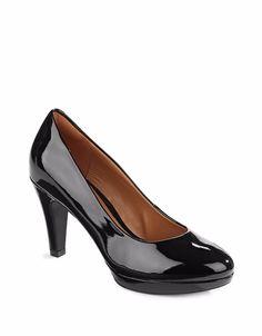 d04f04f4f93 New Clarks Patent Black Dress Heels Platform Pumps Size 6.5M  Clarks   PumpsClassics Dress