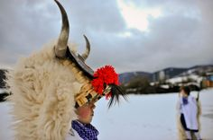 A boy dresses up as Momotxorro, a local mythical animal, to mark carnival celebrations in Alsasua, northern Spain. Photo / AP