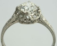 Ornate; intricate; vintage; antique; victorian; engagement ring