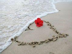 Inima pe nisip