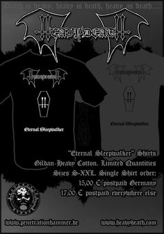 HEAVYDEATH - Eternal Sleepwalker T-shirt, out soon!