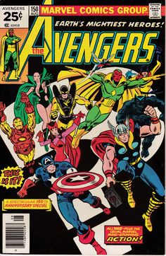 Avengers #150, August 1976 Issue - Marvel Comics - Grade VF