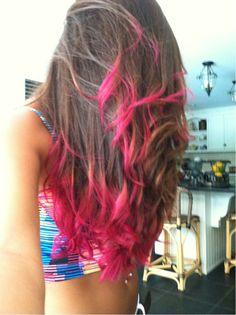 New diy pink hair tips dip dye Ideas Pink Hair Tips, Hair Color Pink, Hair Color Balayage, Hair Highlights, Wedding Wallpaper, Pink Dip Dye, Dip Dyed, Dipped Hair, Dyed Hair