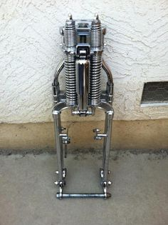 spring front fork motorcycle - Google Search