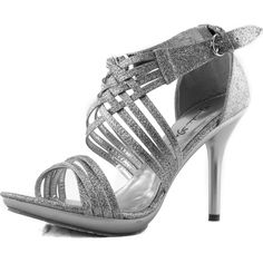 f42786998 Details about Womens Ladies Low Heel Wedding Bridal Silver Sandals Party Strappy  Shoes Open