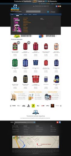 Tienda de nutrición deportiva www.musclenutrition.es. Rediseño del TopMenú de Prestashop 1.6