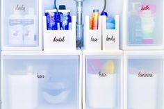 26 Bathroom Storage Cabinets that will Help You Keep Everything Organized - The Trending House Bathroom Red, Bathroom Signs, Bathroom Colors, Bathroom Ideas, Master Bathroom, Vinyl Labels, Custom Labels, Bathroom Organization, Bathroom Storage