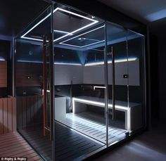 Any stresses can be overcome with a mini-spa that includes sauna and steam room, treatment room and juice bar