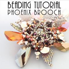 PHOENIX BROOCH TUTORIAL / pdf instant tutorial  di Pikapolina