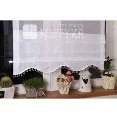 Firany Rolety Woal Shabby Chic  firany panelowe ekrany i modne firany, szycie firan,  firany sklep,   #rideaux #cortinas  #firany #deco #szyjemy #dekoratorka #provensal #okno #stylista #dekoracje #homedecoration #curtains #home #tissu #voilages Shabby Chic, Valance Curtains, Prints, Home Decor, Sew, Blinds, Curtains, Fabric, Living Room